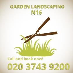 Stamford Hill garden paving services N16