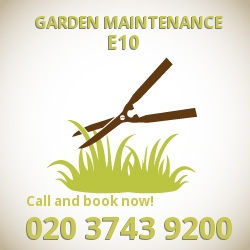 Lea Bridge garden lawn maintenance E10