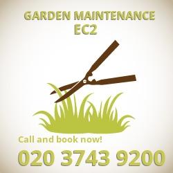 Barbican garden lawn maintenance EC2