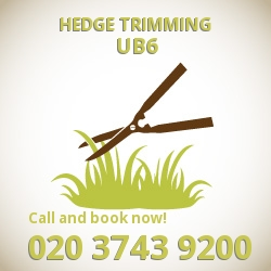 UB6 hedge trimming Greenford