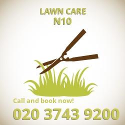 Colney Hatch grass seeding N10